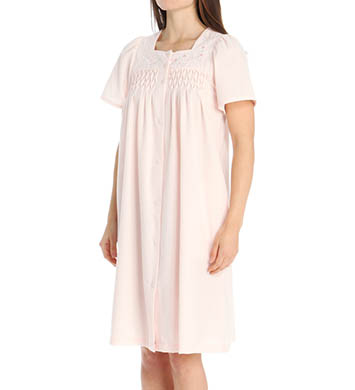 Miss Elaine Seersucker Short Solid Robe