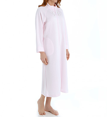 Miss Elaine Quilt-In-Knit Long Robe