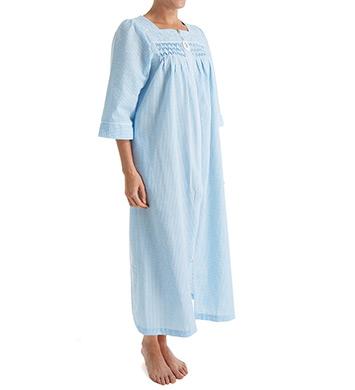 foto de Miss Elaine Seersucker Long Zip Robe 869626 Miss Elaine