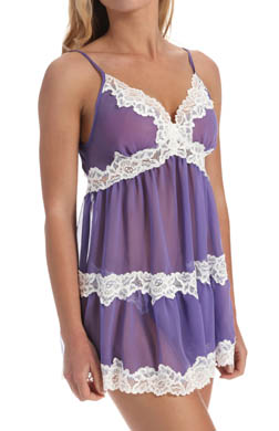 Mystique Intimates Sophie Chemise with Lace Trim & Thong