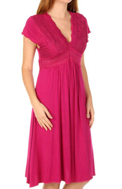 Mystique Intimates Bliss Knit Flutter Sleeve Gown