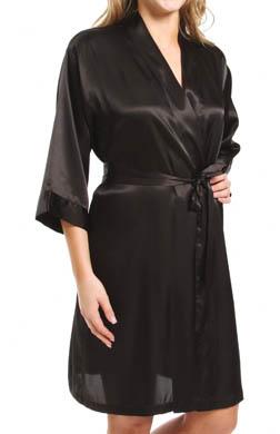 Mystique Intimates Raeanna Short Black Kimono