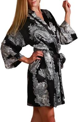 Mystique Intimates Raeanna Short Print Kimono