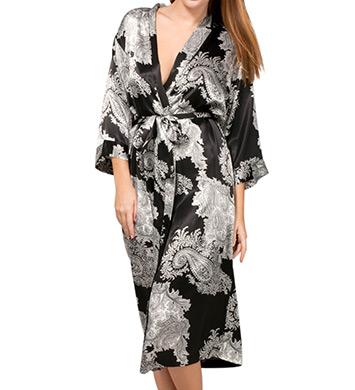 Mystique Intimates Raeanna Long Print Kimono