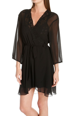 Mystique Intimates Enchanting Short Chiffon Robe