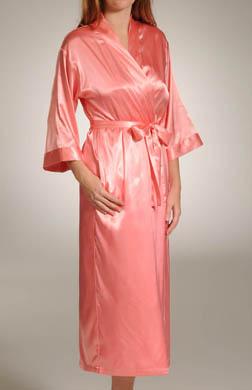 Mystique Intimates Hydrangea Solid Long Kimono