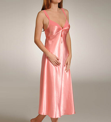 Mystique Intimates Hydrangea Solid Ballet Length Gown
