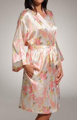 Mystique Intimates Hydrangea Short Kimono