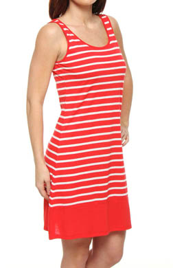 N by Natori Sleepwear Taki With Stripe Jersey Chemise