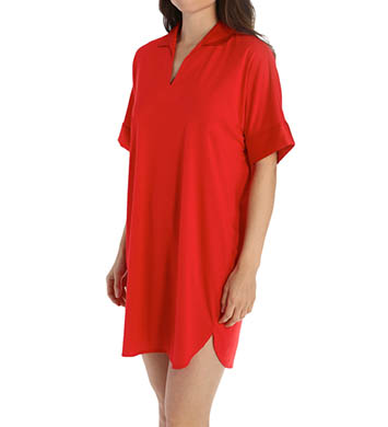N by Natori Sleepwear Congo Sleepshirt with Satin Accents