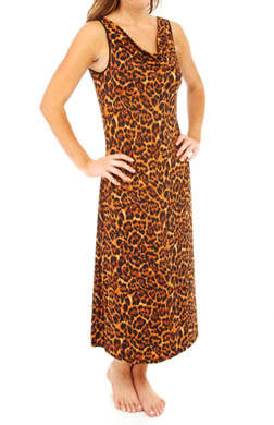N by Natori Sleepwear Animal Blossom Cowl Neck Gown