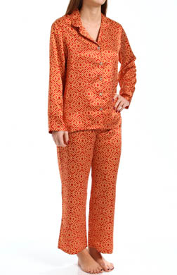 N by Natori Sleepwear Taipei Geo Notch Pajama Set