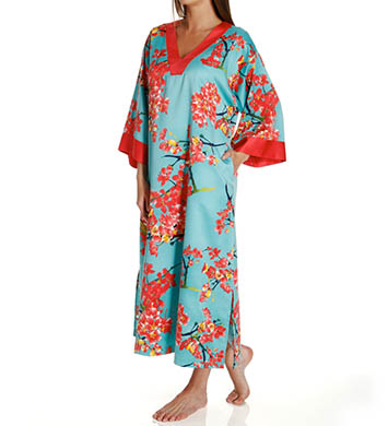 N by Natori Sleepwear Sunset Blossom Long Caftan