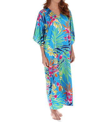 N by Natori Sleepwear Tropical Long Caftan