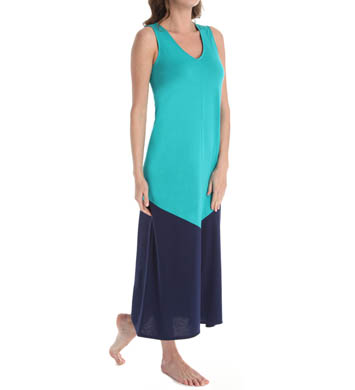 N by Natori Sleepwear Oasis Long V-Neck Gown