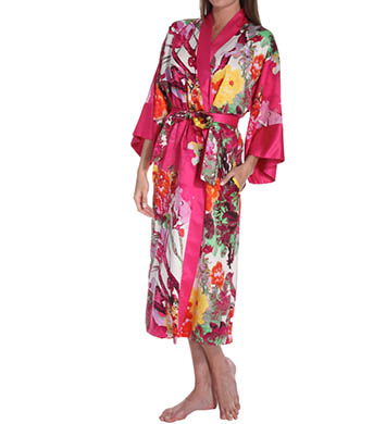 N by Natori Sleepwear Watercolor Flower Long Robe