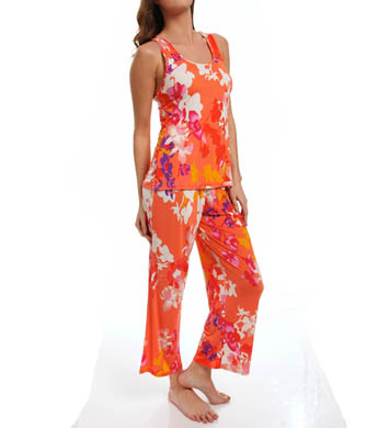 N by Natori Sleepwear Shanghai Flower Sleeveless Pajama Set