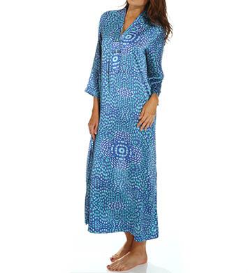 N by Natori Sleepwear Cosette Printed Satin Caftan