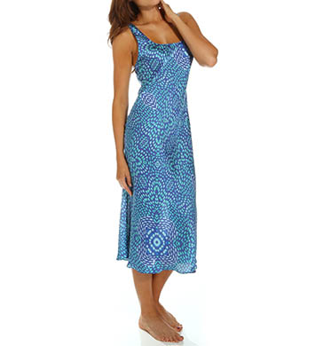 N by Natori Sleepwear Cosette Printed Satin Gown