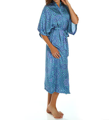 N by Natori Sleepwear Cosette Printed Satin Robe