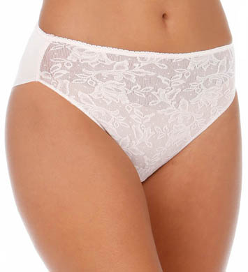 Naomi & Nicole Wonderful Edge Lace Front Hi-Cut Brief Panty
