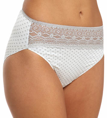 Naomi & Nicole Wonderful Edge Lace Trim Hi-Cut Panty