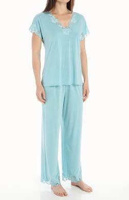 Natori Sleepwear Zen Floral 28 Short Sleeve PJ Set