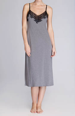 Natori Sleepwear Lhasa Solid Poly Modal With Lace Gown