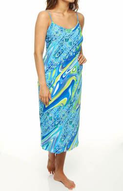 Natori Sleepwear Mandaue Print Crepe de Chine Gown