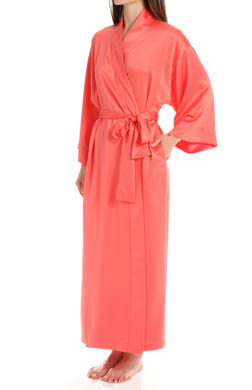 Natori Sleepwear Solid Charmeuse Essentials Robe