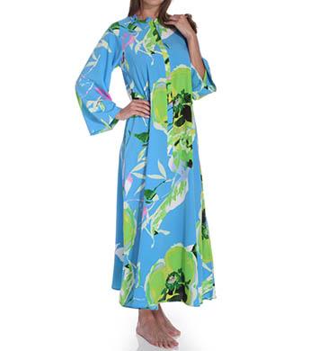 Natori Sleepwear Lana Printed Zip Caftan