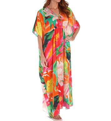 Natori Sleepwear Garbo Printed Silky Caftan