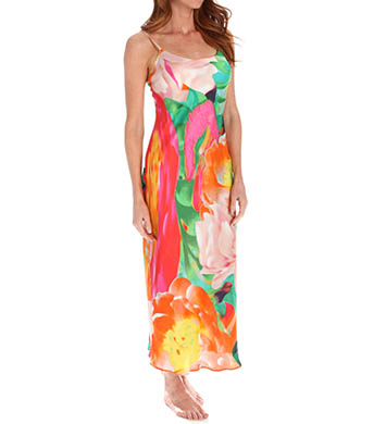 Natori Sleepwear Garbo Printed Silky Gown