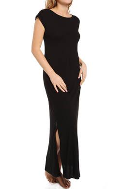 Natori Sleepwear Shangri-La Solid Shortsleeve Gown