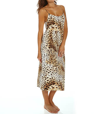 Natori Sleepwear Gabon Printed Georgette Long Gown
