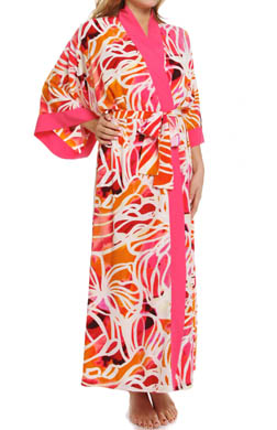 Natori Sleepwear Zelda Printed Long Robe