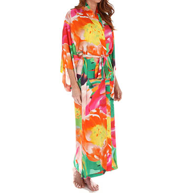 Natori Sleepwear Garbo Printed Silky Robe