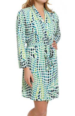 Natori Sleepwear Kismet Printed Slinky Knit Wrap Robe