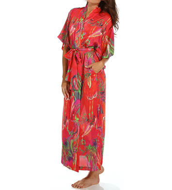 Natori Sleepwear Katerina Printed Georgette Robe