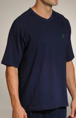 Nautica Match Play Solid SS V-Neck Shirt