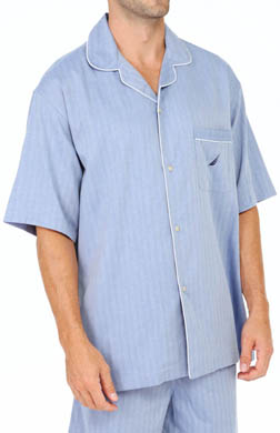 Nautica Anchor Wovens Short Sleeve Camp Shirt