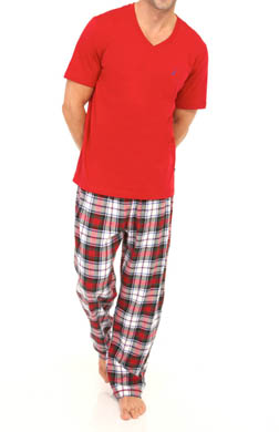 Nautica Seaborne Short Sleeve Tee and Pant Pajama Set