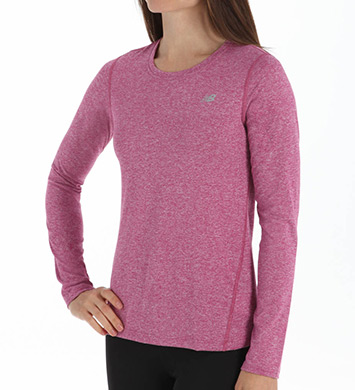 New Balance NB Dry Heathered Long Sleeve Tee