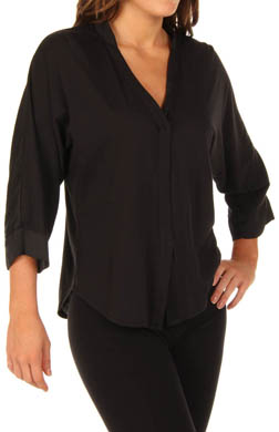 Nicole Miller Elements Satin Panel Top