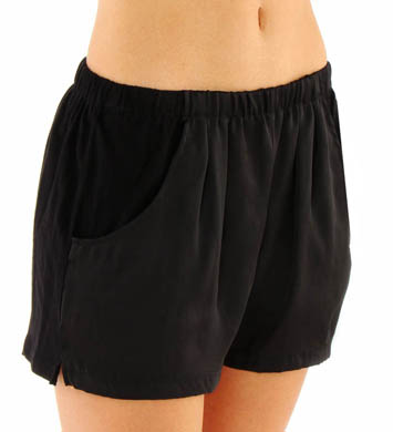 Nicole Miller Washed Satin Shorts
