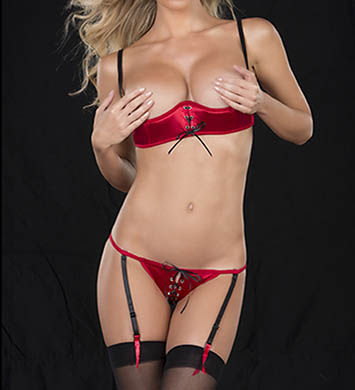 Oh La La Cheri Shelf Bra and G-String Set