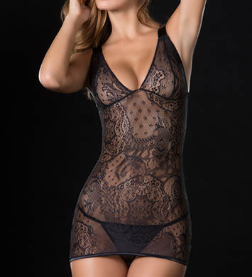 Oh La La Cheri Lace Babydoll with Elastic Strap Back Detail