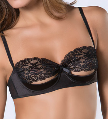 Oh La La Cheri Lace and Satin Shelf Bra