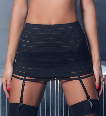 Oh La La Cheri Bandage Skirt with Garter and G-String