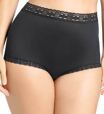 Olga Secret Hug Nylon Scoop Full Brief Panties